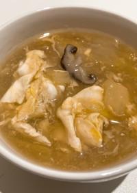 とろとろ白菜の卵スープ