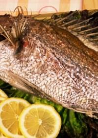 鯛の尾頭付きの後 鯛飯と味噌汁へ