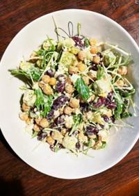 アボカド&豆二種で水菜サラダ