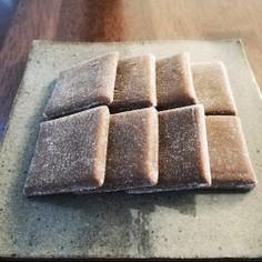 米粉でチョコ羽二重餅※袋とレンジで◎