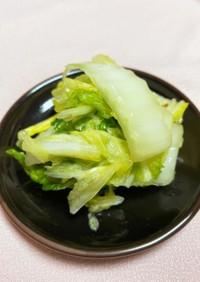 塩昆布の残り塩で!白菜の浅漬け