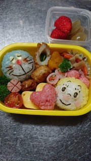 1歳9ヶ月バレンタイン弁当の写真