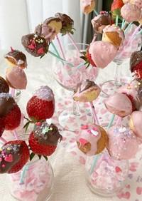 作って楽しい苺チョコポップ☆