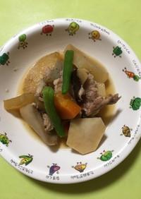 【保育園給食】豚肉と里芋の炒め煮