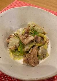 レンジで簡単!鯖缶と白菜のサラダ