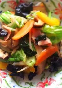 ベーコンと彩り野菜の中華炒め
