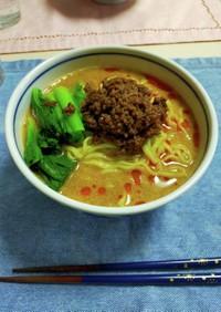 味噌ラ王で作る坦々麺