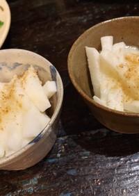 副菜に。短冊山芋とトロロの小鉢