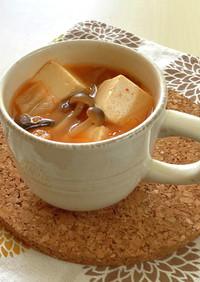 チゲ風ピリ辛キムチスープ