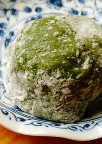 青汁と切り餅でレンチン大福