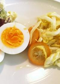 金柑と白菜のサラダ 朝ごはん