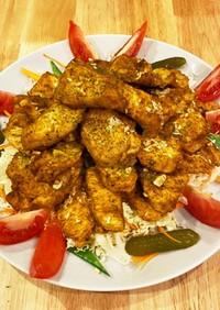 にんにくカレーの鶏胸肉オーブン焼き♡