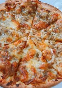 カレーリメイクピザ