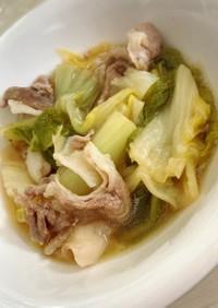 白菜と豚肉のシンプル煮物