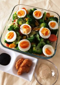 あり合わせ野菜の簡単温野菜サラダ