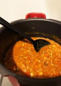 圧力鍋で野菜たっぷり無水カレー