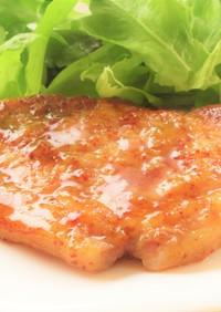 豚肉のソテー マスタードビネガーソース