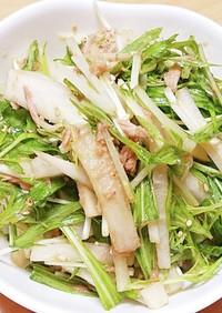 ポンの大根と水菜のサラダ