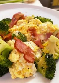 ブロッコリーと卵のふんわり炒め