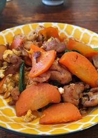 豚肉と野菜を中華だしで炒めたやつ