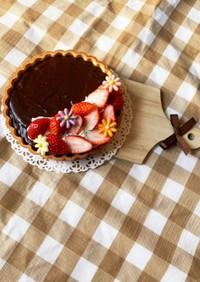 簡単豆腐生チョコケーキ