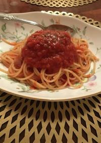 さんま缶de☆トマトパスタ