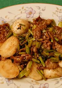 簡単&時短✨蕪と豚バラのバルサミコ酢炒め