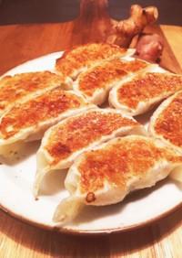 菊芋と舞茸入り焼き餃子(改訂版)