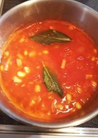 ベーコンと豆のトマトスープ・簡単✨