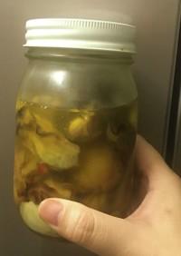 ホタテと牡蠣のオリーブオイル漬
