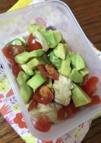 簡単ささみのアボカドトマトサラダ