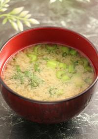 簡単!しらすと小松菜のお味噌汁