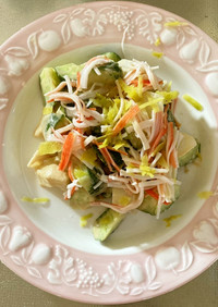 【京田辺発】長芋と胡瓜のカニ風味サラダ