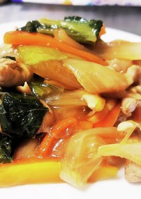 【初心者向け】野菜と豚肉の炒めもの