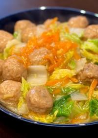 肉団子と白菜の中華炒め