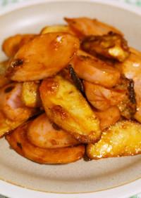 魚肉ソーセージとエリンギのケチャマヨ炒め