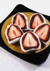 切餅でイチゴ大福☆#切り餅リメイク