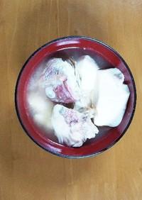 ちご鯛と豆腐の味噌汁