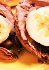 レンジで簡単!ココアでバナナオムレット♪