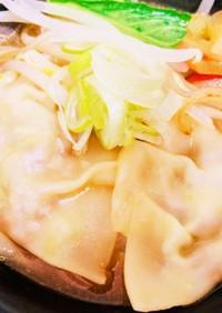 餃子の皮で!簡単納豆ワンタン味噌ラーメン