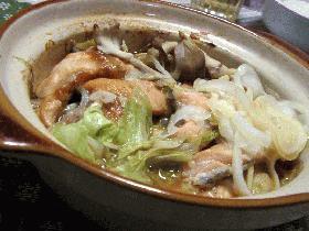 秋鮭の味噌煮