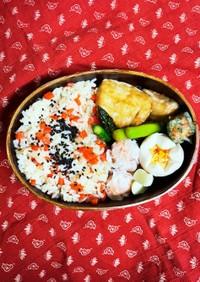 にんじんと鶏そぼろの混ぜご飯弁当