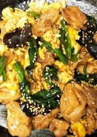 青椒肉絲風♪鶏とふわふわ卵の中華炒め