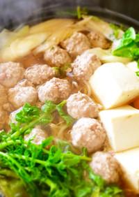 白菜と豚ひき肉団子のお鍋♩