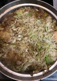 豚バラとキャベツのめんつゆ鍋