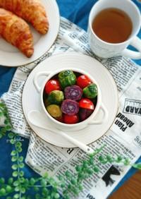 芽キャベツとミニトマトの簡単マリネ。