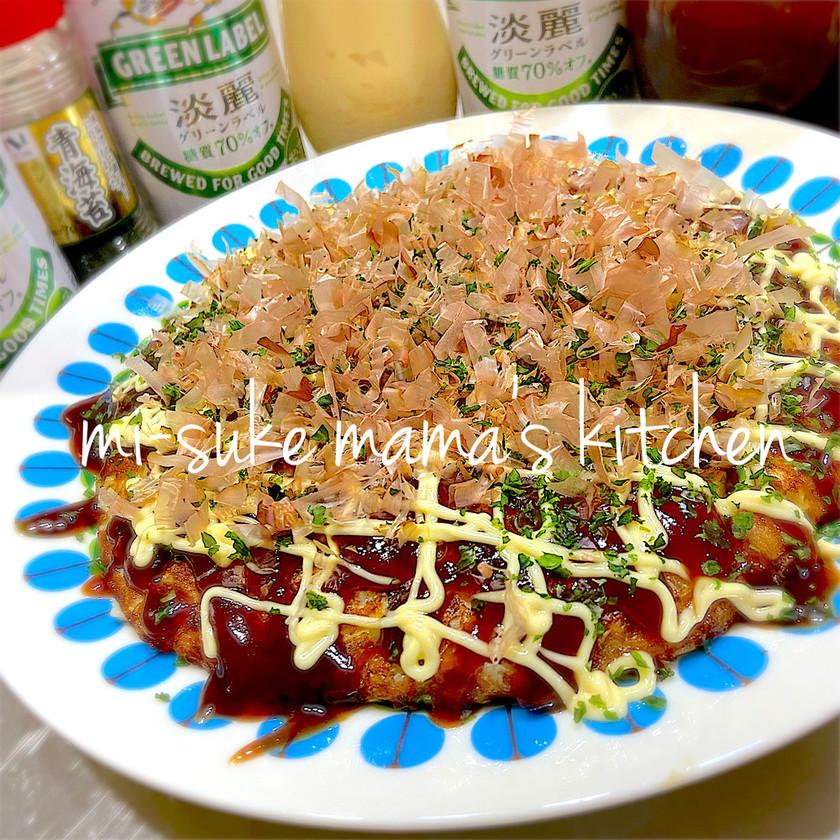 白菜&チーズ❤無水トロトロお好み焼きஐஃ
