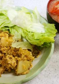 ✨ツナとジャガイモの卵とじ&ネギの味噌汁
