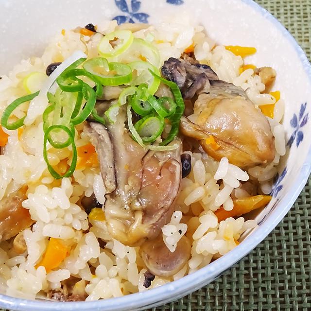干し牡蠣の炊き込みご飯【乾燥カキ】