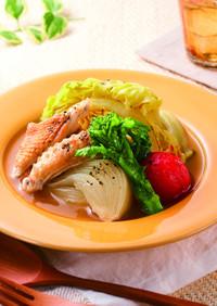 和風だしで!鶏肉と春野菜のポトフ♪